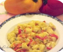 Gnocchetti in salsa di peperoni…