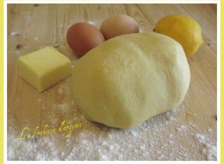 Pasta frolla….ricetta base.