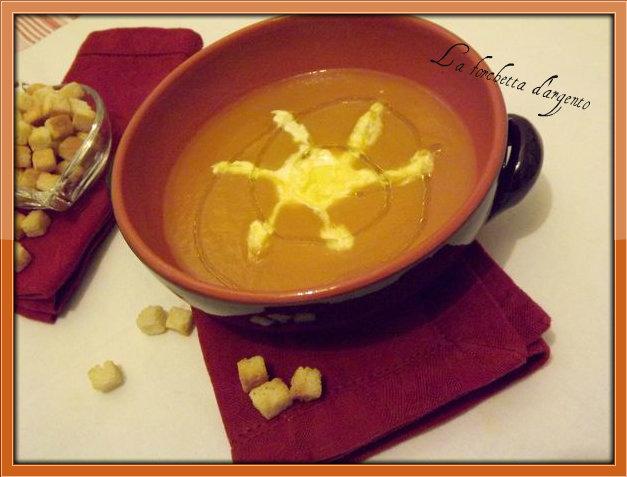 crema di zucca carote e zenzero