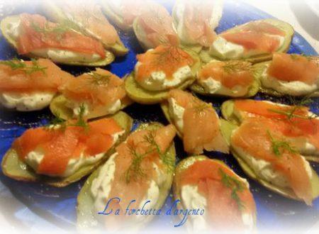 Barchette di patate al salmone..