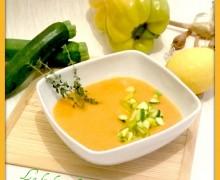 Crema di carote con dadolata di verdure…