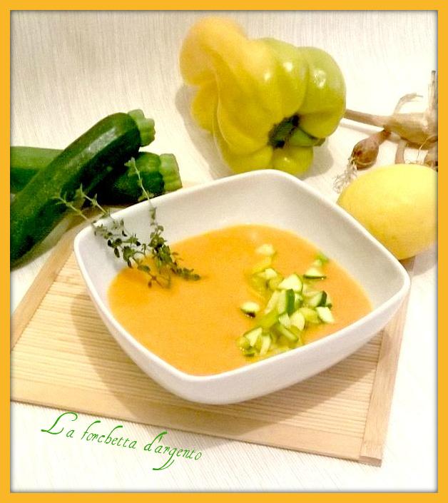 crema di carote con dadolata di verdure