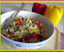Insalata di riso e cereali vegetariana a modo mio..