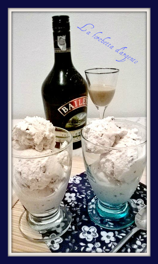 gelato al bayles e cioccolato