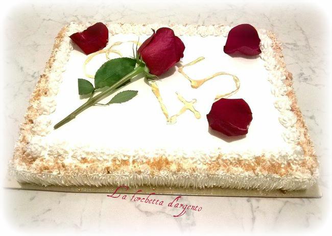 torta anniversario al croccante