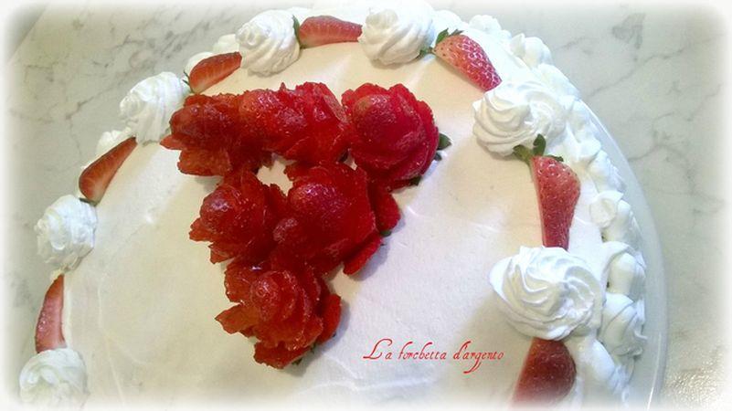 torta rose per compleanno