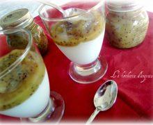 Biancomangiare e confettura di kiwi..